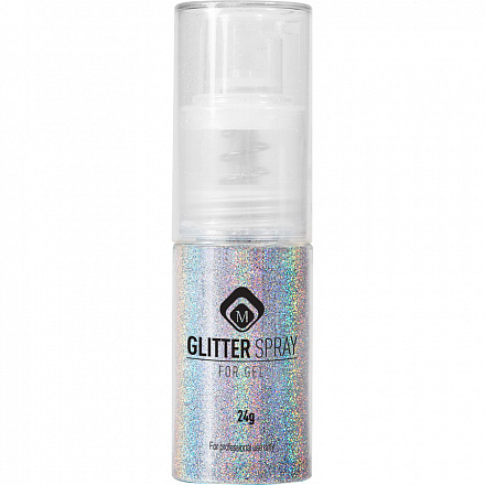 Magnetic Glitter Spray Hologram Silver 2 gr.